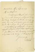 "Autographs:Authors, Samuel Francis Smith Autograph Letter Signed ""S.F. Smith."" One page, 5.5"" x 8"", Newton Centre, Massachusetts, Septem..."