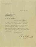 Autographs:Non-American, Charles P. Steinmetz 1911 Typed Letter Signed...