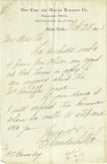 Autographs:Military Figures, General Fitz John Porter Collection of Seven Autograph Letters Signed. Porter was a career army officer and Union Civil War ... (Total: 8 items)