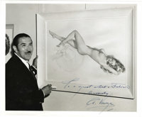 """Alberto Vargas Inscribed Signed Photograph, 10"""" x 8"""", with """"To a great artist Felicia sincerely A. Vargas..."""
