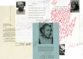 Autographs:Celebrities, Ethel Waters Archive of 8 Letters and Greeting Cards, mostly 8vowith covers, Pasadena and Los Angeles, 1952-1960's, to Bob ...