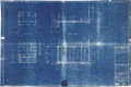 """Antiques:Posters & Prints, Frank Lloyd Wright """"Fallingwater"""" Blueprints. 13 originalblueprints, 32"""" x 23.5"""", np, nd. An incredible find, the original... (Total: 13 )"""