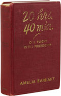 Books:Signed Editions, Signed Amelia Earhart 20 hrs. 40 min. Our Flight In the Friendship - The American Girl, First Across the Atlantic by Air, Te...