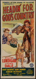 "Movie Posters:Adventure, Headin' for God's Country (Republic, 1943). Australian Daybill (13""X 30""). Adventure.. ..."