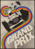 "Movie Posters:Sports, Grand Prix (MGM, 1967). Czech Poster (11"" X 16""). Sports.. ..."