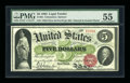 Large Size:Legal Tender Notes, Fr. 63 $5 1863 Legal Tender PMG About Uncirculated 55....