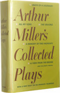Books:Signed Editions, Arthur Miller Signed Book with Horowitz Check. Arthur Miller'sCollected Plays. Inscribed & signed to the wife ofVladim...