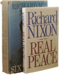 Books:Signed Editions, Pair of Richard Nixon Signed Books. Perhaps America's mostwell-known resignation came when Richard Nixon stepped down from... (Total: 2 )