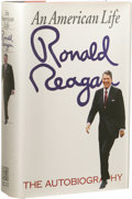 Books:Signed Editions, Ronald Reagan Signed Book: An American Life - TheAutobiography. (New York: Simon and Schuster, 1990), 748 pages,numero...