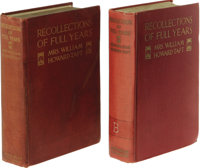 "President & Mrs Taft Signed Book: Recollections (New York: Dodd & Mead, 1914) first edition signed ""Helen H..."