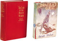 Books:First Editions, Two Bram Stoker First Editions with Postcard from Florence Stoker.Two books: Dracula's Guest and Other Weird Stories....(Total: 3 )