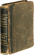 Books:First Editions, Mark Twain [Samuel Clemens] Punch Brother Punch and OtherSketches (New York: Slote, Woodman & Co., 1878), firstedition...