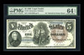Large Size:Legal Tender Notes, Fr. 78 $5 1880 Legal Tender PMG Choice Uncirculated 64 EPQ....
