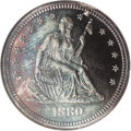 Proof Seated Quarters, 1880 25C PR65 Cameo NGC....
