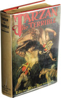 Books:First Editions, Edgar Rice Burroughs Tarzan the Terrible. (Chicago: A.C.McClurg & Co., 1921), first edition, 408 pages, red clothbindi...