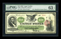 Large Size:Legal Tender Notes, Fr. 93 $10 1862 Legal Tender PMG Choice Uncirculated 63 EPQ....