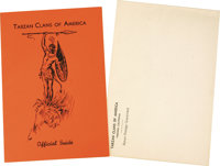 Tarzan Memorabilia Lot Including a Rare Copy of the Tarzan Clubs of America Official Guide. This booklet was issued to m...