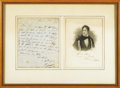"Autographs:Authors, Lord Byron Autograph Letter Signed. Signed: Byron, one page,7.25"" x 8.75"", Ravenna, Italy, June 24, 1821. Written to a ..."