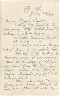 "Autographs:Non-American, King Edward VII of England Autograph Letter Signed ""AlbertEdward"". Three pages, 4.5"" x 7"", Easthampstead Parkletterhea..."