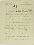 Autographs:Authors, Alex Haley Archive. 492 pages, over 100 pages of handwritten noteson articles about Malcolm X, Roots, Queen and Mahalia Jac...(Total: 492 pieces)