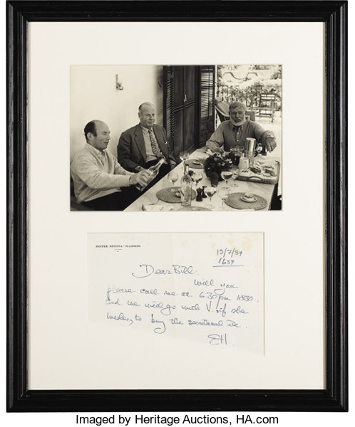 Ernest Hemingway Autograph Letter Signed E H One Page 775 X