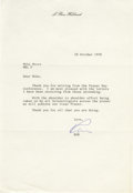 "Autographs:Authors, L. Ron Hubbard Typed Letter Signed. ""Ron"". One page, 7.25"" x10.5"", personal letterhead, np, October 28, 1978. This lett...(Total: 3 )"