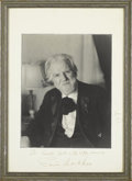 "Autographs:Authors, Edwin Markham Inscribed Signed Photograph, 9.5"" x 13.5"" ""To Everett Hill with happy memories Edwin Markham June 1930"". A..."