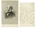 "Autographs:Statesmen, Jefferson Davis Autograph Letter Signed. Two pages, 5.25"" x 7.25"",no place, July 8, 1873, to Mesdames Fitzgerald and Ives. ..."