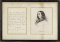 "Autographs:Non-American, George Sand Autograph Letter Signed ""George"". One page, 4.75"" x 6.75"", Paris, nd. This pipe smoking feminist writer used..."