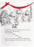 Autographs:Authors, Dr. Seuss Signed Leaf From How the Grinch Stole Christmas.The author's large signature is underscored with a flourish a...