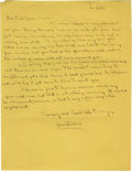 "Autographs:Authors, John Steinbeck Autograph Letter Signed. One page, 8.5"" x 11"", plain paper, Los Gatos [California], not dated [1938], to Paul..."