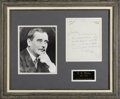"""Autographs:Authors, H. G. Wells Autograph Letter Signed, """"H.G"""", one page onpersonal letterhead, 6.5"""" x 8"""", Hampstead, nd, to """"My dearNor..."""