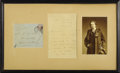 "Autographs:Authors, Oscar Wilde Autograph Letter Signed ""Oscar Wilde,"" twopages, 4.5"" x 6.5"", The Haven, Worthing, Sussex, September 1894...."