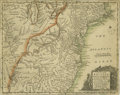 "Antiques:Posters & Prints, Early 1754 Map of The American Plantations Commissioned By KingGeorge One Page, 11""x 9"", 1754. ""A Map of the British Americ..."