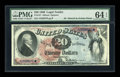 Large Size:Legal Tender Notes, Fr. 127 $20 1869 Legal Tender PMG Choice Uncirculated 64 EPQ....