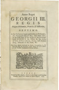 "Books:Pamphlets & Tracts, 1770 British Act Which Led To The ""Boston Massacre"". Six pages, 7.5"" x 12"", np, 1770. Printed by ""Mark Baskett, Printer to t..."