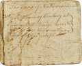 "Autographs:Military Figures, 1777 Revolutionary War Soldier's Diary from the Battle of Newport. 24 pages, 3"" x 4"", begins on September 20, 1777 with a me..."