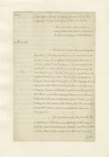 "Autographs:Statesmen, 1778 Original Copy of A Request for the British Army to Invade theSouthern Colonies. Three pages, 8"" x 12.25"", London, Nove..."