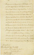 "Autographs:Non-American, British Evacuation Manuscript Document Signed ""AluredClarke"", one page, 8"" x 12.75, Staten Island, December 3, 1783.An..."