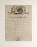 """Antiques:Posters & Prints, Broadside, General Washington. One page,15.5"""" x 19"""", W.P.Blake, London, 1800. Published some seven months after Washing..."""