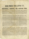 """Political:Posters & Broadsides (pre-1896), 1840 Anti-Martin Van Buren Political Broadside. 22"""" x 16"""". Unusualprinted broadside, two pages, opens to 44"""" x 32"""" overall,..."""
