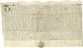 """Autographs:Non-American, Lot of Seven 17th Century English Manuscript Documents as follows:Will of Abbe (?) Jenson, one page, 9"""" x 6.5"""", Warter,... (Total: 7)"""