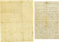 Miscellaneous:Ephemera, Diverse Group of Eighteen 18th and 19th Century Letters. An even mix of business and personal correspondence, mostly one to ... (Total: 18 )