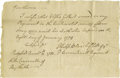 Autographs:Statesmen, Thirteen Revolutionary War Documents. This collection of assortedRevolutionary War dated documents includes: two war dated ...(Total: 13 )