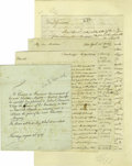 Autographs:Statesmen, Excellent Early Republic Autograph Collection. An excitingcollection is comprised of six pieces, dating from 1776 to 1790,... (Total: 6 )