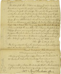 "Autographs:Military Figures, Rare 1764 John Armstrong Military Letter ALS: ""John Armstrong,"" 1p, 6"" x 7.25"". [Pennsylvania], September 1, 1764. With ..."