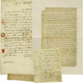 "Autographs:Non-American, King George III of England Document Signed ""George R."" Onepage, 24"" x 16"", Court at St. James, December 18, 1789. The d..."