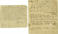 "Four 18th Century American Manuscripts. 1). Autograph Note Signed, ""Tristram Bartlett"" and ""Nathan Chele&..."