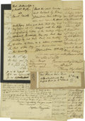 Autographs:Statesmen, Continental Congress Autograph Collection consisting of tenexcellent letters and documents. The Continental Congress was fo...(Total: 10 )