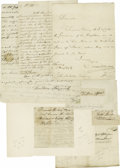 Autographs:Statesmen, (George Washington) A collection of three documents by aides of George Washington. Includes Tobias Lear (1762-1816) secret... (Total: 3 )